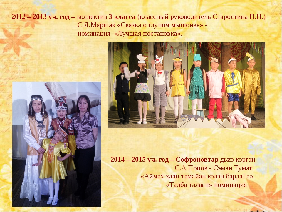 2012 – 2013 уч. год – коллектив 3 класса (классный руководитель Старостина П....