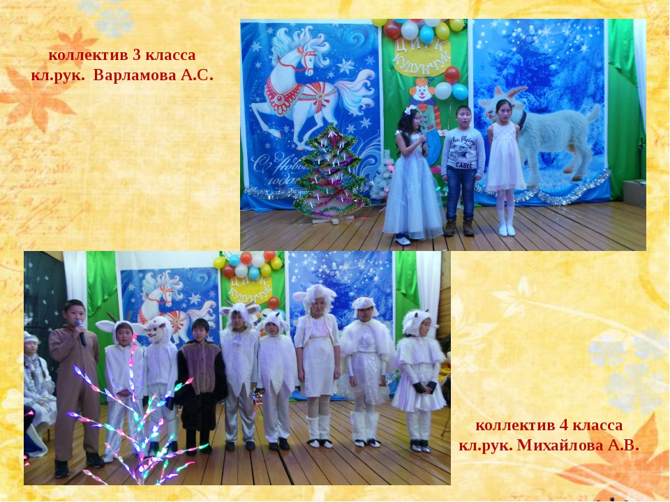 коллектив 4 класса кл.рук. Михайлова А.В. коллектив 3 класса кл.рук. Варламов...
