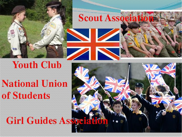 Scout Association Girl Guides Association National Union of Students Youth C...
