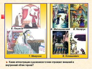 Т. Маврина Е. Пашков В. Милашевский В. Конашевич ► Какие иллюстрации художник
