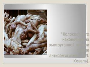 """""""Холокост - это наконечник на выструганной веками стреле антисемитизма…"""" (Л."""