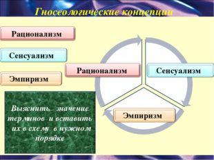 Гносеологические концепции