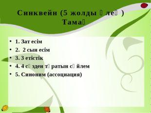 Синквейн (5 жолды өлең) Тамақ 1. Зат есім 2. 2 сын есім 3. 3 етістік 4. 4 сөз