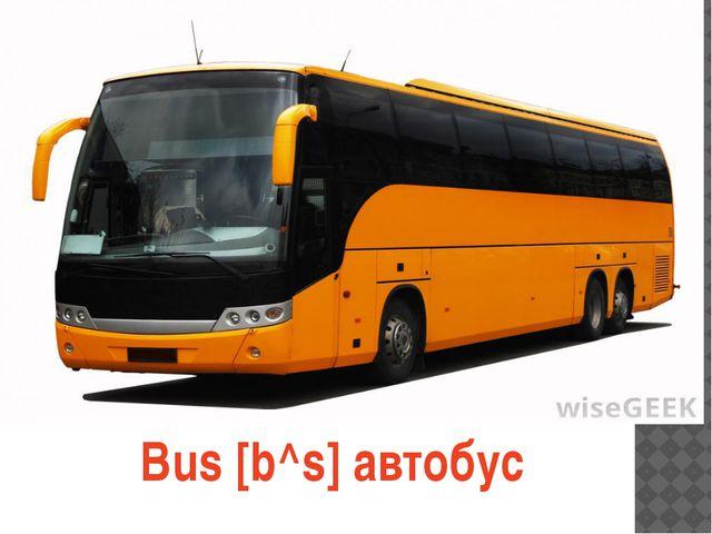 Bus [b^s] автобус
