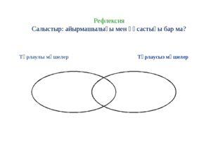 Рефлексия Салыстыр: айырмашылығы мен ұқсастығы бар ма? Тұрлаулы мүшелер
