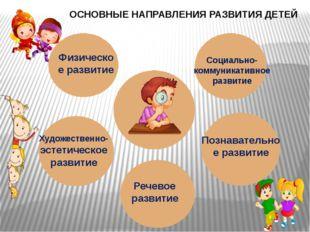 ОСНОВНЫЕ НАПРАВЛЕНИЯ РАЗВИТИЯ ДЕТЕЙ Физическое развитие Социально- коммуникат