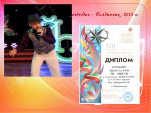 Созвездие – Йолдызлык -2013 г.
