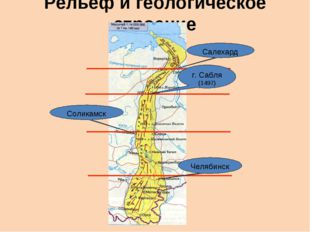 Рельеф и геологическое строение Салехард г. Сабля (1497) Соликамск Челябинск