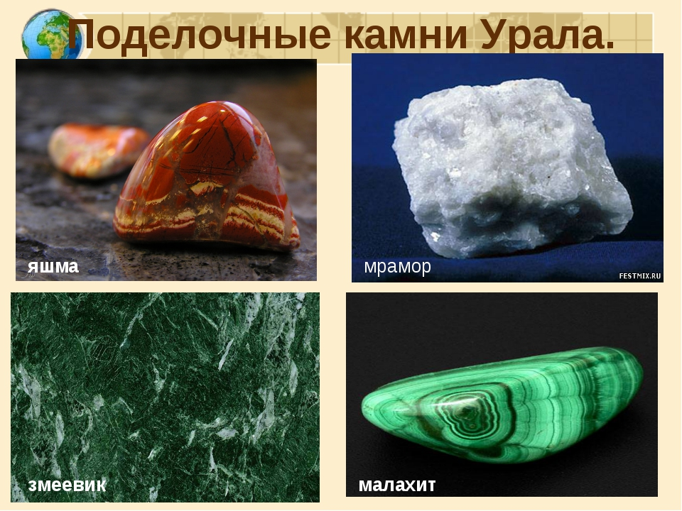Поделочные камни Урала. яшма змеевик мрамор малахит