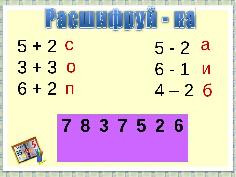 5 + 2 3 + 3 6 + 2 5 - 2 6 - 1 4 – 2 с о п а и б с 7837526