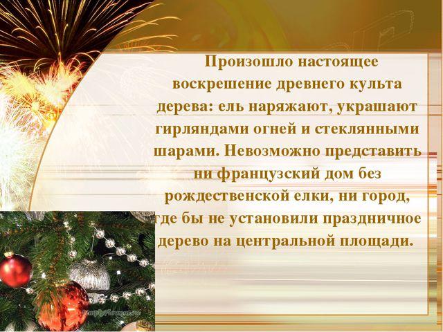 Произошло настоящее воскрешение древнего культа дерева: ель наряжают, украша...
