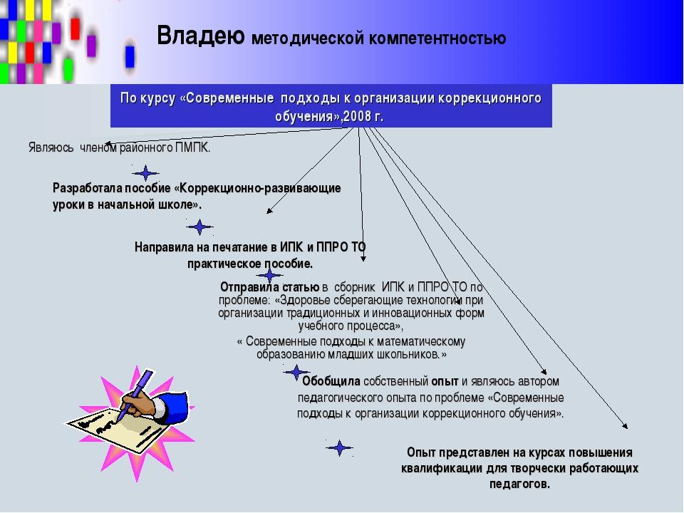 По курсу «Современные подходы к организации коррекционного обучения»,2008 г....