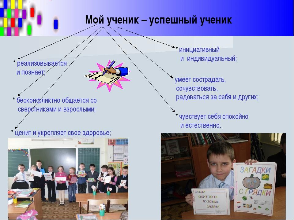 Мой ученик – успешный ученик * чувствует себя спокойно и естественно. * иници...