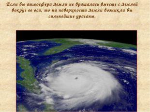 Если бы атмосфера Земли не вращалась вместе с Землей вокруг ее оси, то на пов