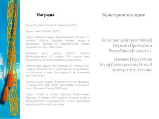 Награды Орден Трудового Красного Знамени (1972). Орден «Знак Почета» (1972).