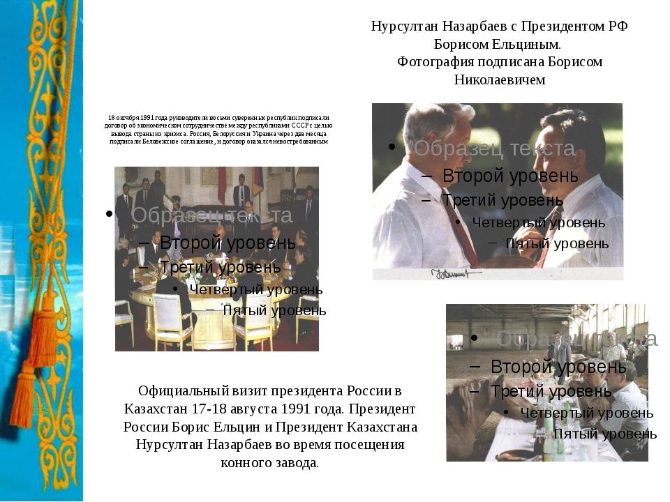 18 октября 1991 года руководители восьми суверенных республик подписали догов...