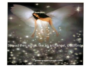 Spread their wings, like an archangel, crucifomly.