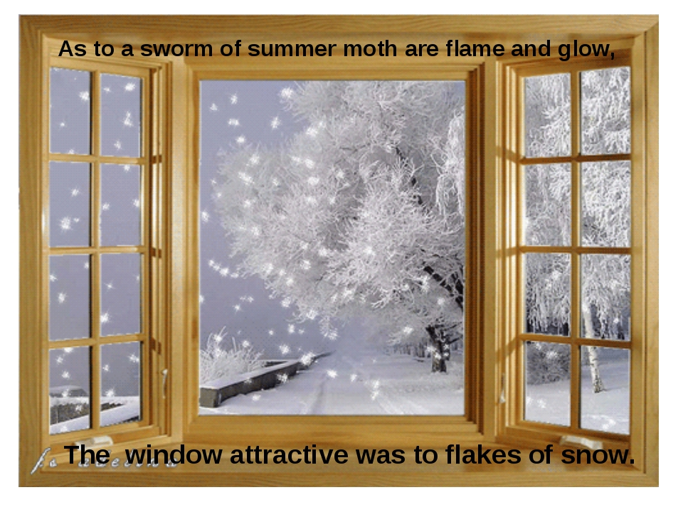 As to a sworm of summer moth are flame and glow, The window attractive was to...