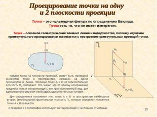* А В А1 Проецирование точки на одну и 2 плоскости проекции Точка – основной