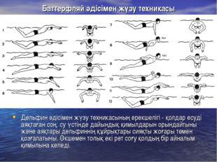 Баттерфляй әдісімен жүзу техникасы Дельфин әдісімен жүзу техникасының ерекшел