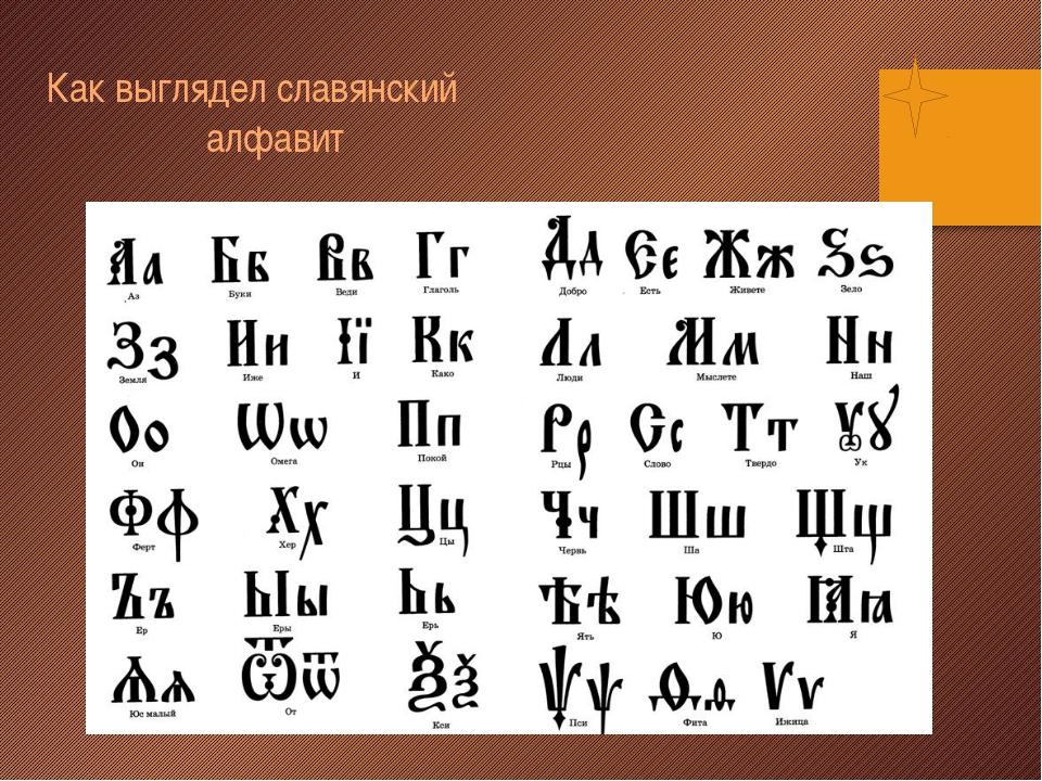 Как выглядел славянский алфавит