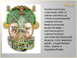 Космогоническое отделение неба от земли повлекло за coбой возникновение униве