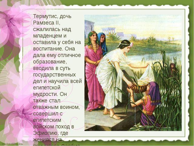 Термутис, дочь Рамзеса II, сжалилась над младенцем и оставила у себя на воспи...