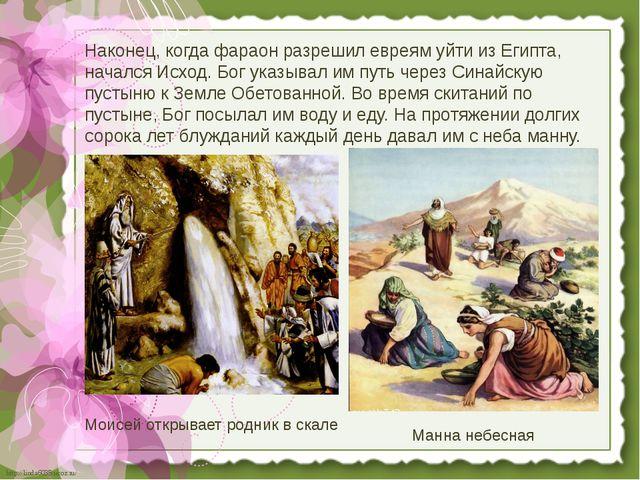 Наконец, когда фараон разрешил евреям уйти из Египта, начался Исход. Бог указ...