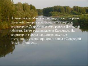 Вблизи города Макеевка находится исток реки Грузской, которая протекает через