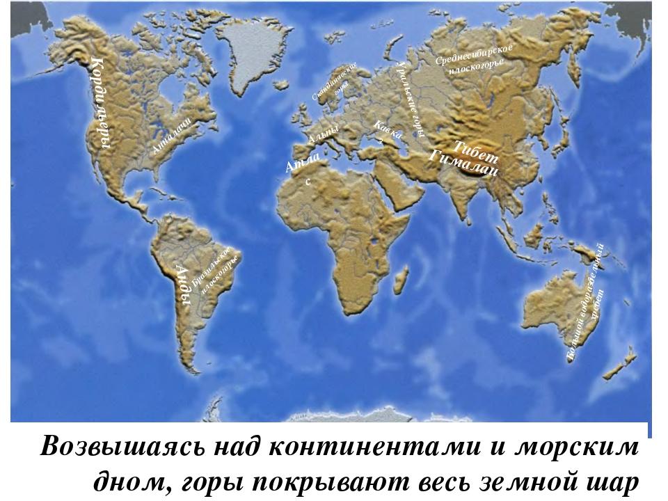 Горы Высота – более 2000 метров От 1000 до 2000 метров До 1000 метров высокие...