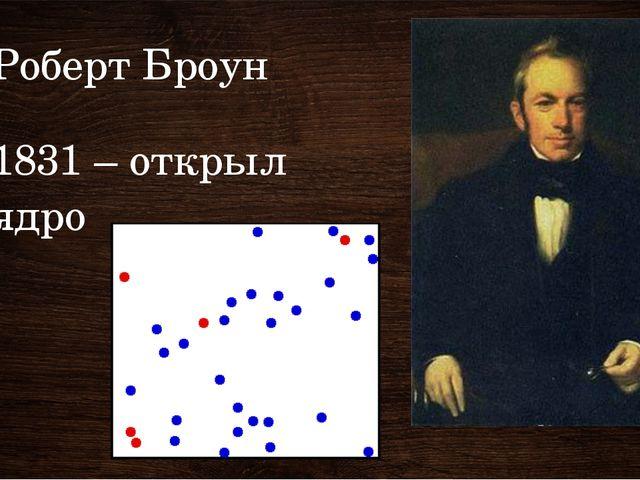 Роберт Броун 1831 – открыл ядро 1831 – англ ботаник Броун открыл ядро клетки....