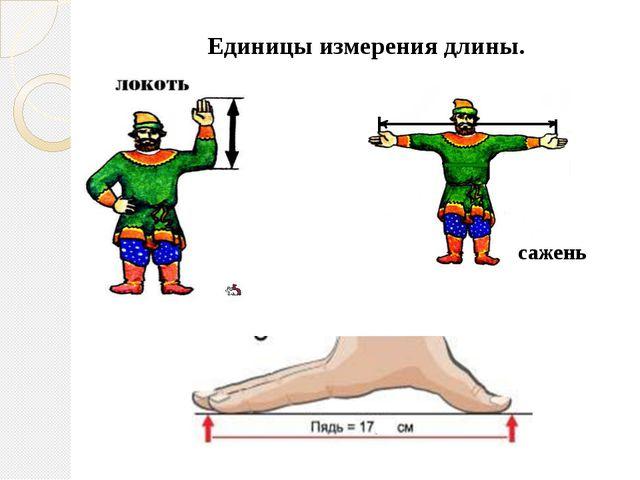 Единицы измерения длины. сажень
