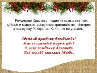 Рождество Христово – один из самых светлых, добрых и главных праздников хрис