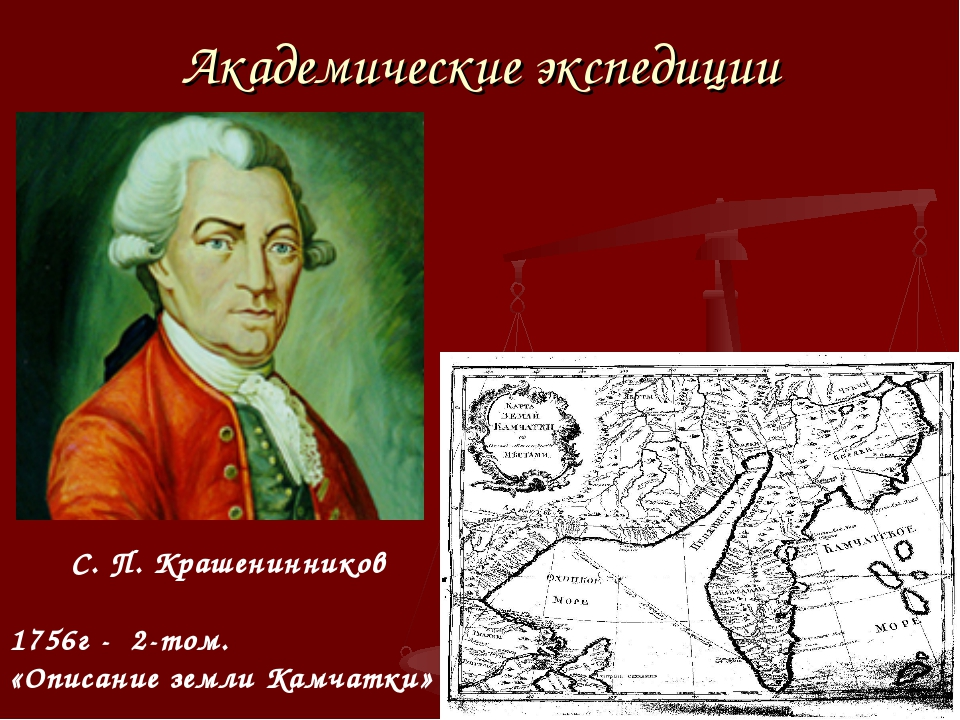 Академические экспедиции С. П. Крашенинников 1756г - 2-том. «Описание земли К...