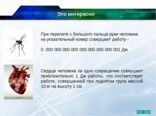 При перелете с большого пальца руки человека на указательный комар совершает