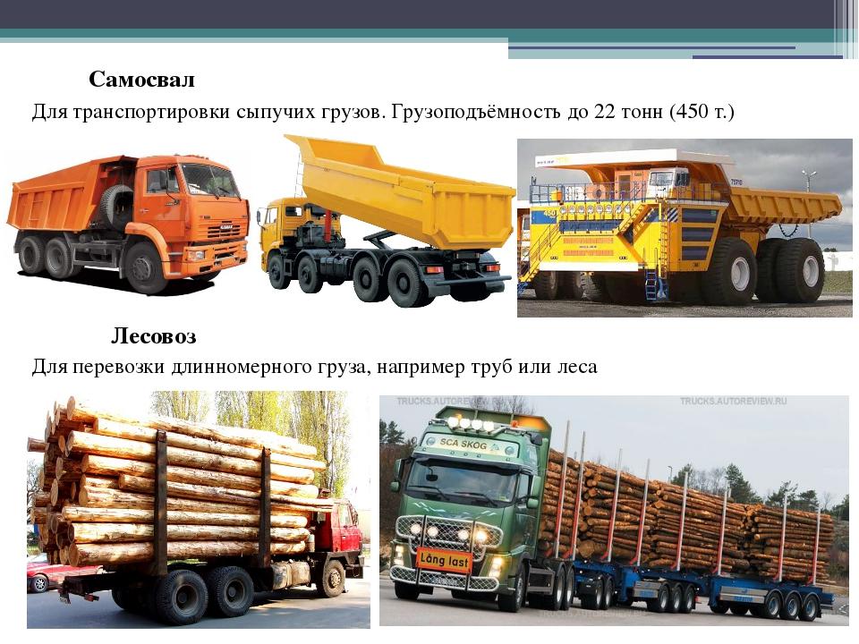 Самосвал Для транспортировки сыпучих грузов. Грузоподъёмность до 22 тонн (450...