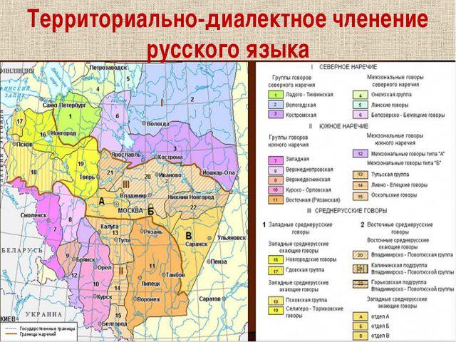 Территориально-диалектное членение русского языка
