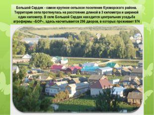 Большой Сардек - самое крупное сельское поселение Кукморского района. Террит