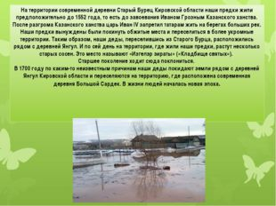 На территории современной деревни Старый Бурец Кировской области наши предки