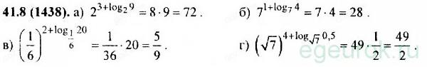 ГДЗ по алгебре 11 класс Мордкович - номер №41.8