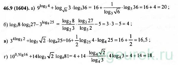 ГДЗ по алгебре 11 класс Мордкович - номер №46.9