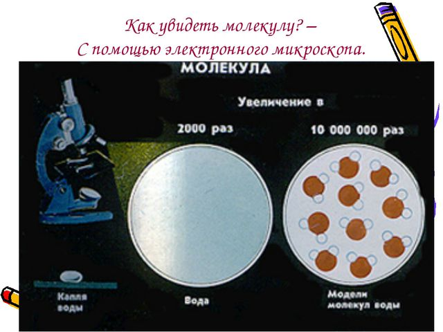 Как увидеть молекулу? – С помощью электронного микроскопа.