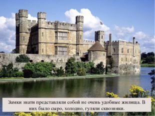 Замки знати представляли собой не очень удобные жилища. В них было сыро, холо