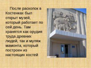 После раскопок в Костенках был открыт музей, который работает по сей день. Т
