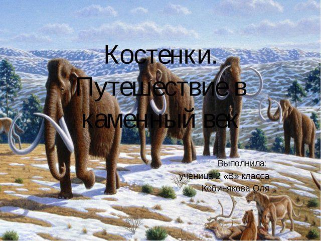 Костенки. Путешествие в каменный век Выполнила: ученица 2 «В» класса Кобиняко...