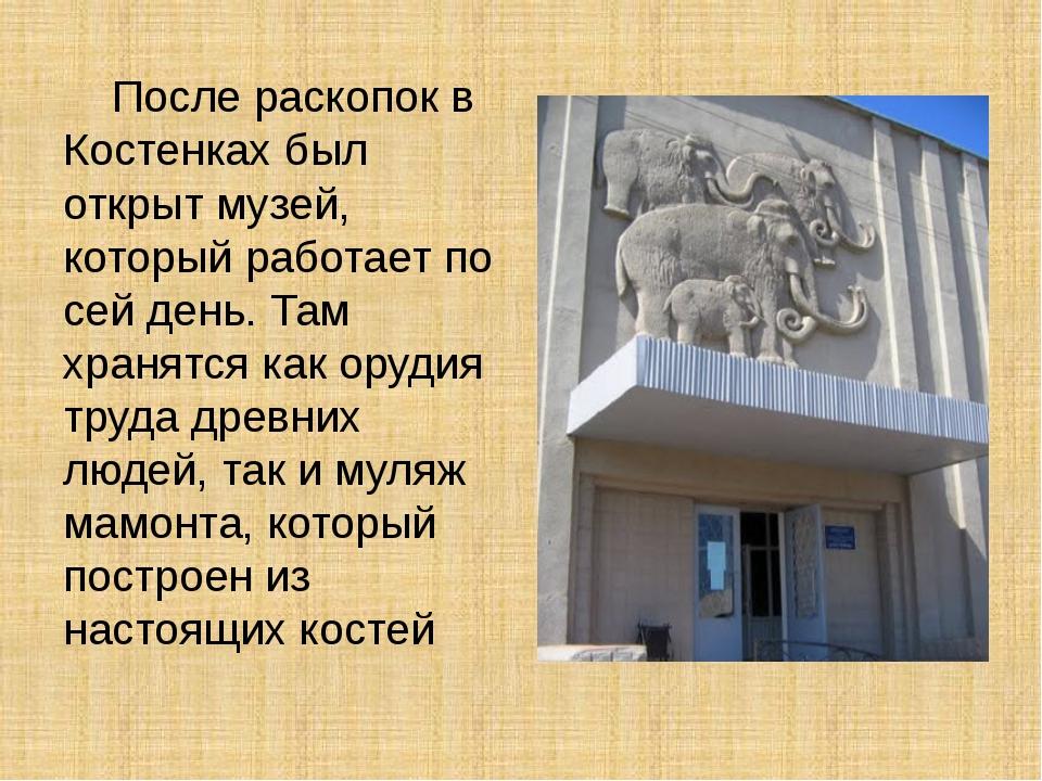 После раскопок в Костенках был открыт музей, который работает по сей день. Т...