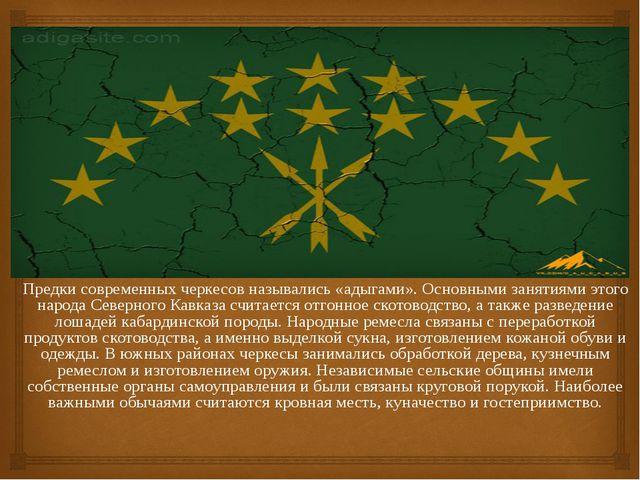 Предки современных черкесов назывались «адыгами». Основными занятиями этого н...