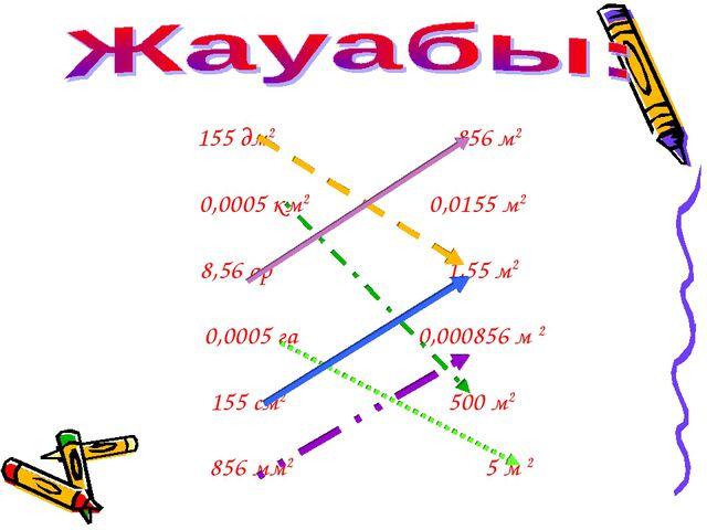 155 дм2 856 м2 0,0005 км2 0,0155 м2 8,56 ар 1,55 м2 0,0005 га 0,000856 м 2 15...