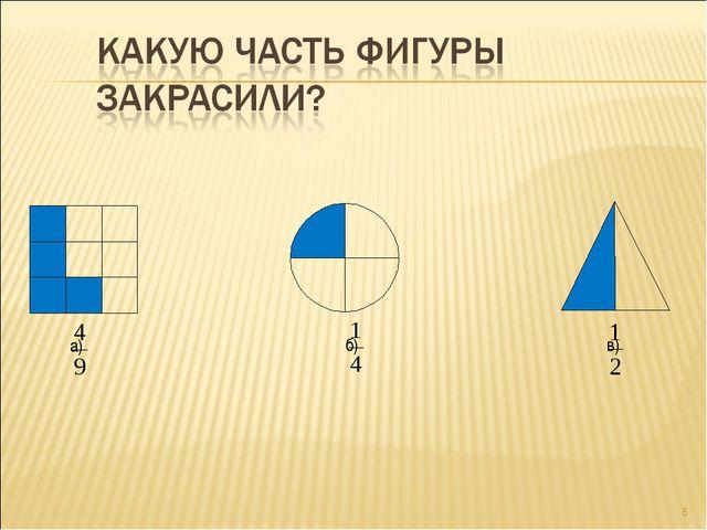 * а) б) в)