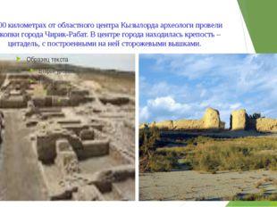 В 300 километрах от областного центра Кызылорда археологи провели раскопки го